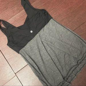 Black and Grey Lululemon Top